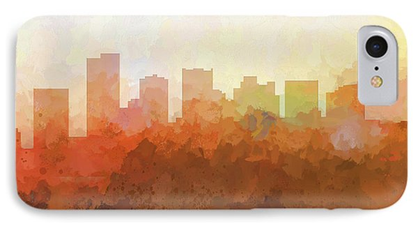 IPhone Case featuring the digital art Scottsdale Arizona Skyline by Marlene Watson