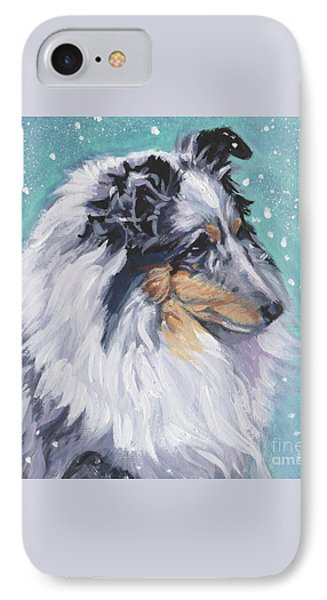 Shetland Sheepdog IPhone Case by Lee Ann Shepard