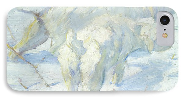 Siberian Dogs In The Snow IPhone Case by Franz Marc