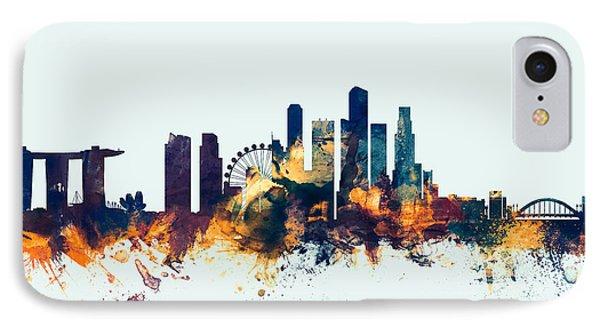 Singapore Skyline IPhone Case by Michael Tompsett