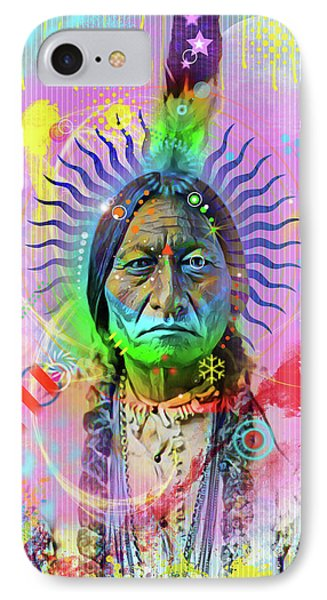 Sitting Bull IPhone Case by Gary Grayson