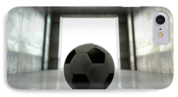 Soccer Ball Sports Stadium Tunnel IPhone Case by Allan Swart