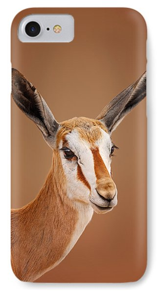 Springbok Portrait Phone Case by Johan Swanepoel