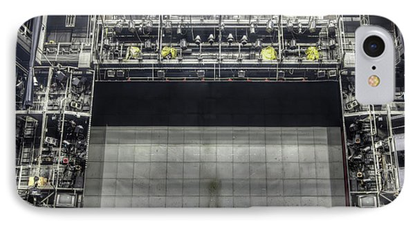 IPhone Case featuring the photograph Stage In The Abandoned Theatre by Michal Boubin