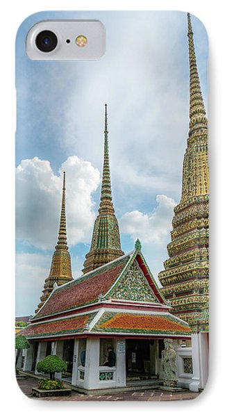 3 Standing Tall - Bangkok Temple IPhone Case by Dylan Newstead
