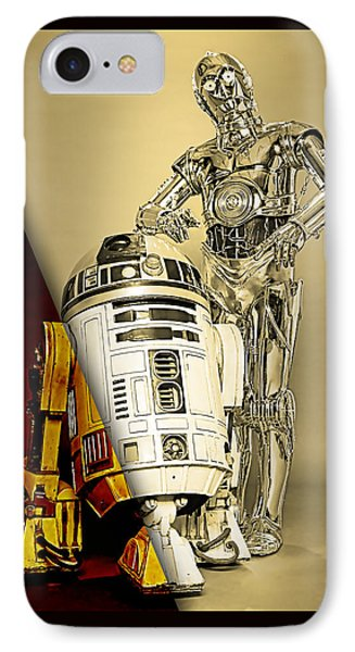 Star Wars C3po And R2d2 Collection IPhone Case by Marvin Blaine