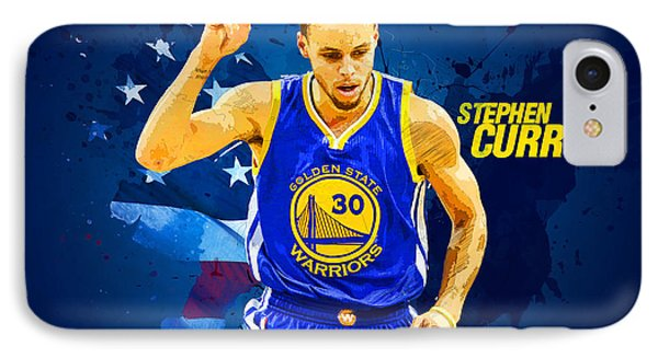 Stephen Curry IPhone Case by Semih Yurdabak