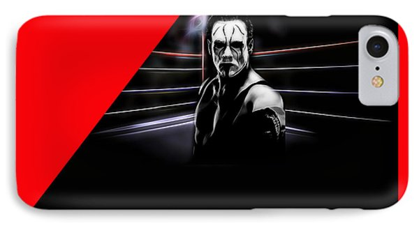 Sting Steve Borden, Sr. Wrestling Collection IPhone Case by Marvin Blaine
