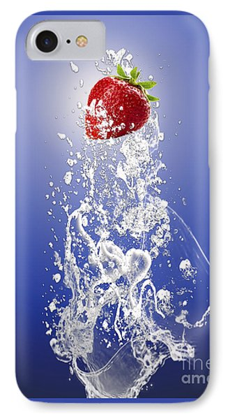 Strawberry Splash IPhone Case by Marvin Blaine