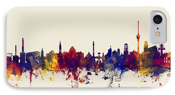 Stuttgart Germany Skyline IPhone Case by Michael Tompsett
