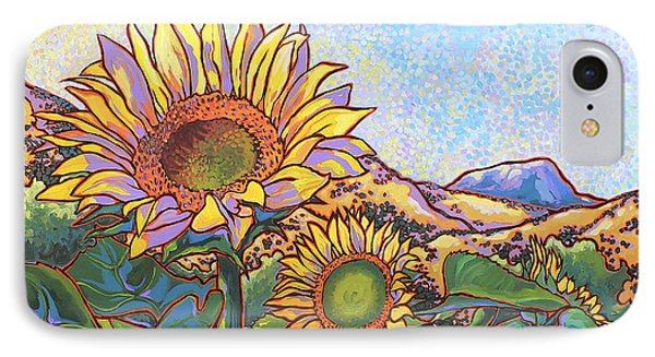 3 Sunflowers Phone Case by Nadi Spencer