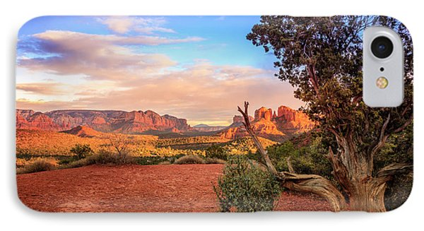 Sunset At Cathedral Rock IPhone Case by Alexey Stiop