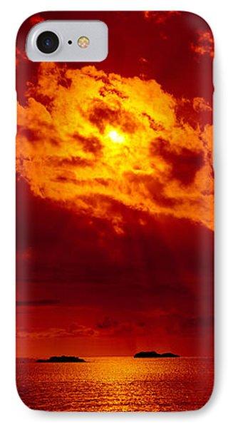 Sunset Over The Atlantic Ocean, Cat IPhone Case