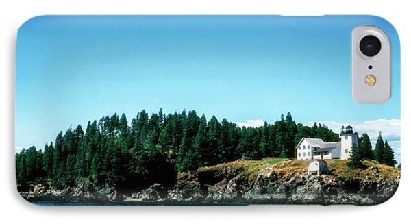 Swans Island Lighthouse IPhone Case by Thomas R Fletcher