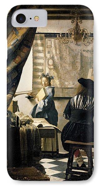 The Artist's Studio IPhone Case by Jan Vermeer