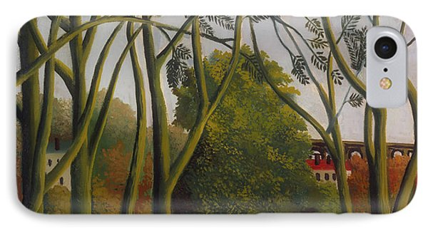 IPhone Case featuring the painting The Banks Of The Bievre Near Bicetre by Henri Rousseau