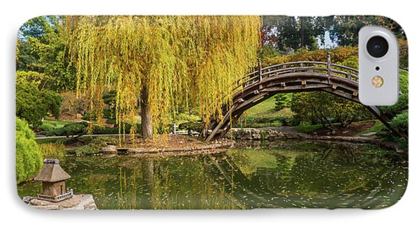 The Beautiful Fall Colors Of The Japanese Gardens In The Hunting IPhone Case by Jamie Pham