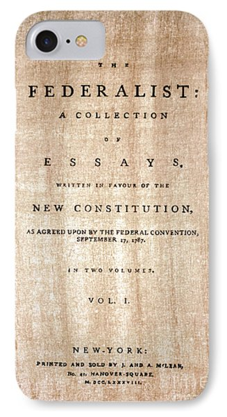 The Federalist, 1788 IPhone Case by Granger