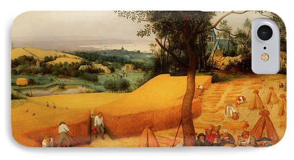 IPhone Case featuring the painting The Harvesters by Pieter Bruegel The Elder