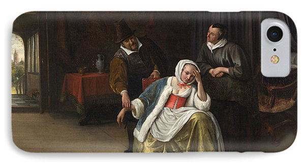 The Lovesick Maiden IPhone Case by Jan Steen