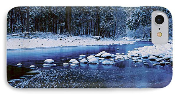The Merced River In Winter, Yosemite IPhone Case by Panoramic Images