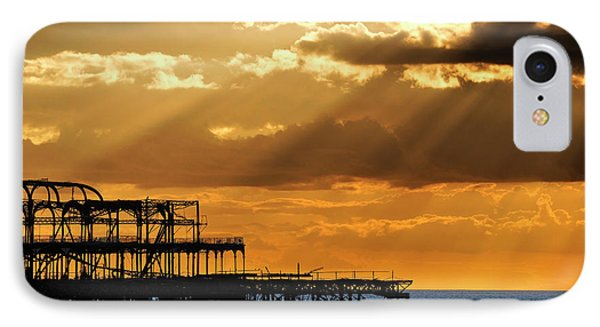 The West Pier In Brighton At Sunset IPhone Case