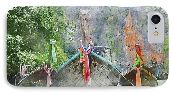 Traditional Long Boat In Thailand IPhone Case