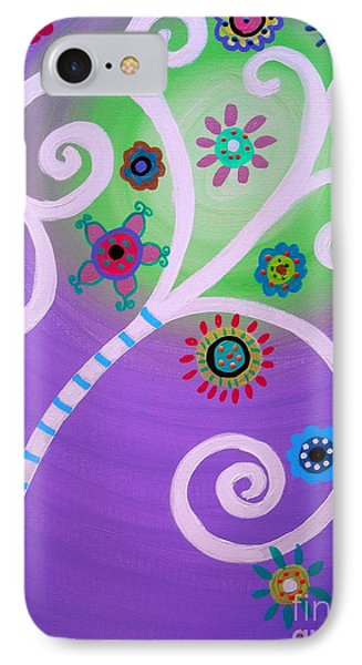 IPhone Case featuring the painting Tree Of Life by Pristine Cartera Turkus