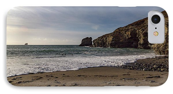 IPhone Case featuring the photograph Trevellas Cove Cornwall by Brian Roscorla