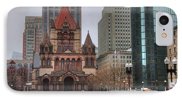 IPhone Case featuring the photograph Trinity Church - Copley Square - Boston by Joann Vitali