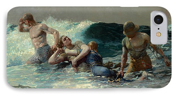 IPhone Case featuring the painting Undertow by Winslow Homer