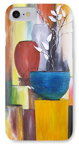 IPhone Case featuring the painting 3 Vases by Gary Smith