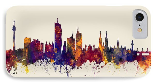 Vienna Austria Skyline IPhone Case by Michael Tompsett