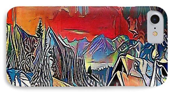 village - My WWW vikinek-art.com IPhone Case by Viktor Lebeda