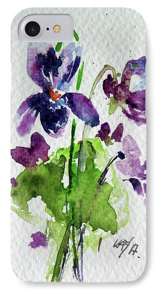 IPhone Case featuring the painting Violet by Kovacs Anna Brigitta
