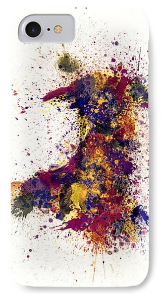 Wales Paint Splashes Map IPhone Case by Michael Tompsett