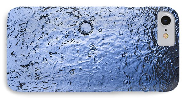 Water Abstraction - Blue Phone Case by Alex Potemkin