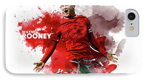Wayne Rooney iPhone 7 Case - Wayne Rooney by Semih Yurdabak