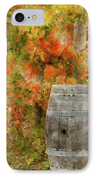 Wine Barrel In Autumn IPhone Case