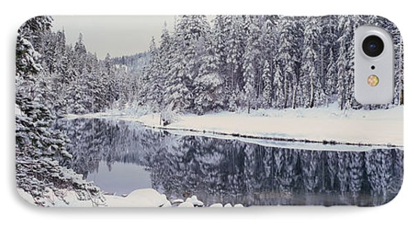 Winter Snowstorm In The Lake Tahoe IPhone Case by Panoramic Images