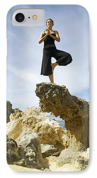 Woman Doing Yoga Phone Case by Kicka Witte - Printscapes