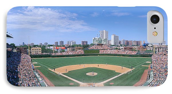 Wrigley Field, Chicago, Cubs V IPhone Case by Panoramic Images