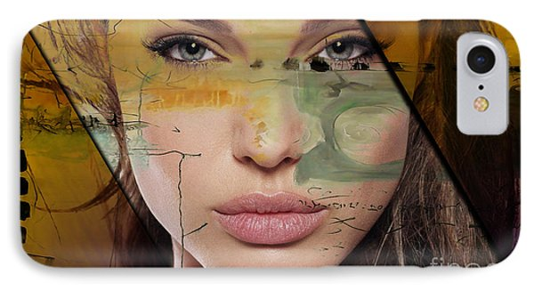 Angelina Jolie Collection IPhone Case by Marvin Blaine
