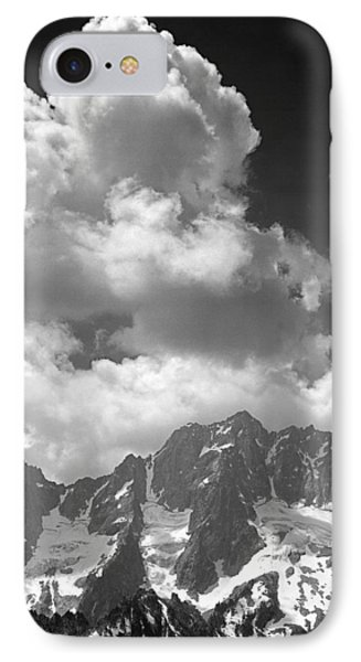 304638 Clouds Over Mt. Stuart Bw IPhone Case