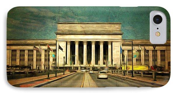 30th Street Station Traffic IPhone Case by Trish Tritz