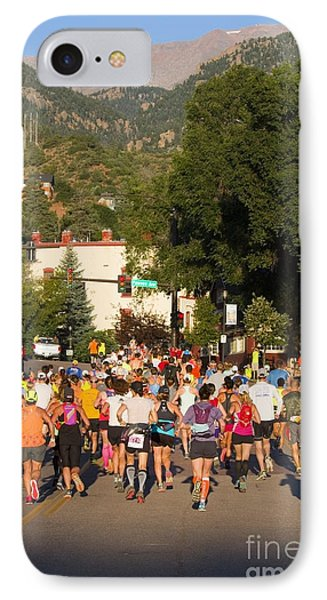 Pikes Peak Marathon And Ascent IPhone Case by Steve Krull