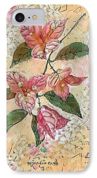 Shabby Chic Botanical Flowers IPhone Case