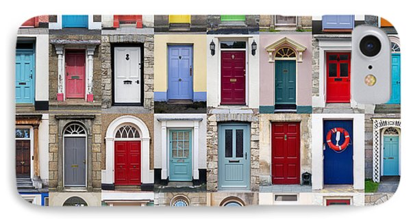 32 Front Doors Horizontal Collage  Phone Case by Richard Thomas