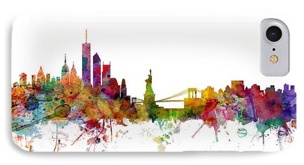 Central Park iPhone 7 Case - New York Skyline by Michael Tompsett