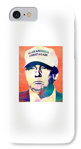 Donald Trump 2016 Presidential Candidate IPhone Case by Elena Kosvincheva